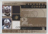 DeAngelo Williams, Jonathan Stewart #/99