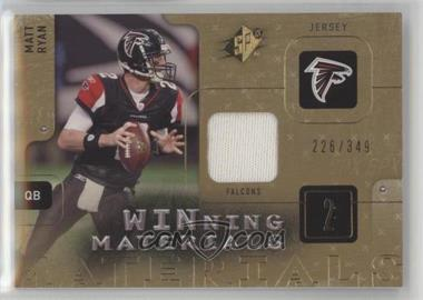 2009 SPx - Winning Materials #W-MR - Matt Ryan /349