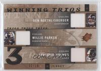 Ben Roethlisberger, Willie Parker, Santonio Holmes #/10