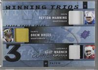 Peyton Manning, Kurt Warner, Drew Brees [Noted] #/25