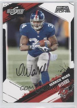 2009 Score Inscriptions - [Base] - End Zone Autographs [Autographed] #194 - Derrick Ward /6
