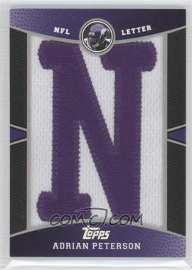 2009 Topps - Manufactured Letter Patch #PR-AP - Adrian Peterson