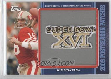2009 Topps - Postseason Patches #PPR12 - Joe Montana