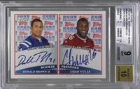 Donald Brown, Chris Wells, Shonn Greene, LeSean McCoy [BGS 9 MINT]