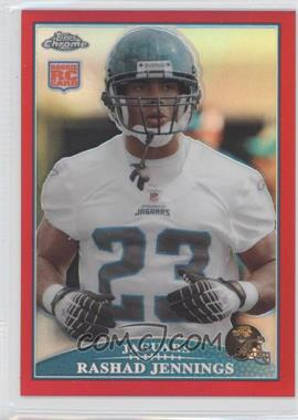 2009 Topps Chrome - [Base] - Red Refractor #TC183 - Rashad Jennings /25