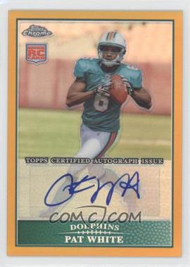 2009 Topps Chrome - Rookie Certified Autographs - Gold Refractor [Autographed] #TC145 - Pat White /10