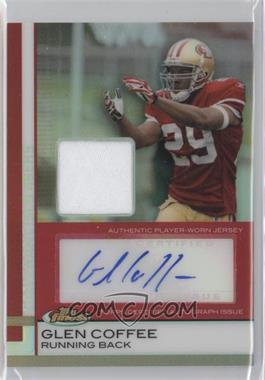 2009 Topps Finest - Rookie Autographed Patch - Red Refractor #87 - Glen Coffee /15