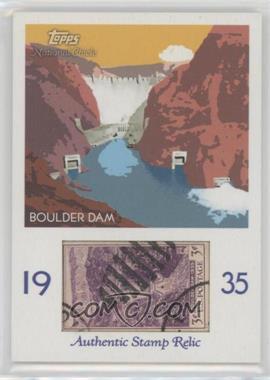 2009 Topps National Chicle - Era Icons Stamp Relics #ER-BD - Boulder Dam