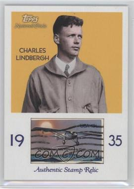 2009 Topps National Chicle - Era Icons Stamp Relics #ER-CL - Charles Lindbergh