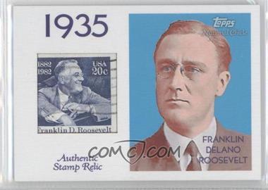 2009 Topps National Chicle - Era Icons Stamp Relics #ER-FDR2 - Franklin Delano Roosevelt