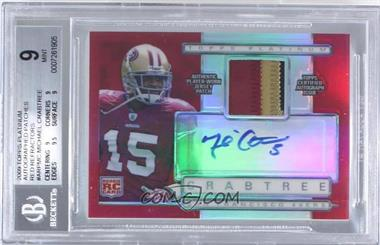 2009 Topps Platinum - Autographed Refractor Patch - Red #ARP-MC - Michael Crabtree /10 [BGS 9]