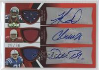 Knowshon Moreno, Chris Wells, Donald Brown /36