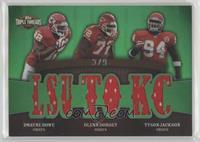 Dwayne Bowe, Glenn Dorsey, Tyson Jackson #/9