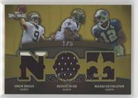 Drew Brees, Reggie Bush, Marques Colston /5