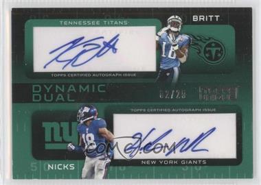 2009 Topps Unique - Dynamic Dual Autographs #DDA-BN - Kenny Britt, Hakeem Nicks /25