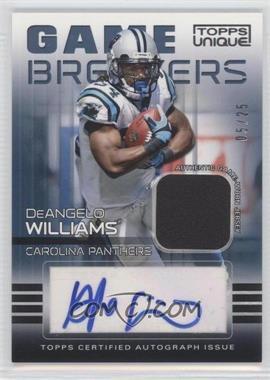 2009 Topps Unique - Game Breakers Autographed Relics #GAR-DW - DeAngelo Williams /25