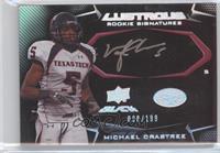 Lustrous Rookie Signatures - Michael Crabtree #/199