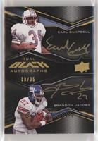 Earl Campbell, Brandon Jacobs #/35