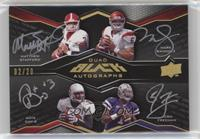 Matthew Stafford, Mark Sanchez, Nate Davis, Josh Freeman [Noted] #/20