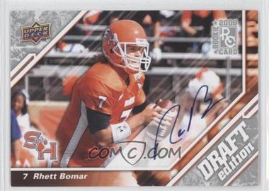 2009 Upper Deck Draft Edition - [Base] - Autographs [Autographed] #143 - Rhett Bomar