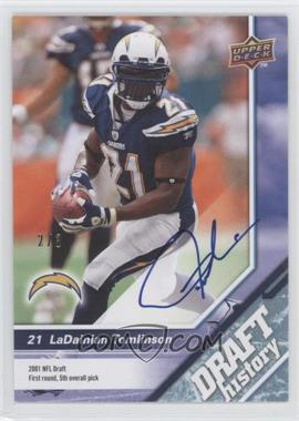 2009 Upper Deck Draft Edition - [Base] - Blue Autographs [Autographed] #159 - LaDainian Tomlinson /3