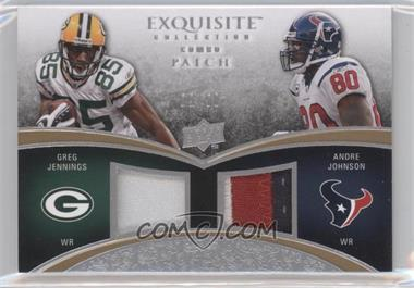 2009 Upper Deck Exquisite Collection - Combo Patch #CP-JJ - Greg Jennings, Andre Johnson /50