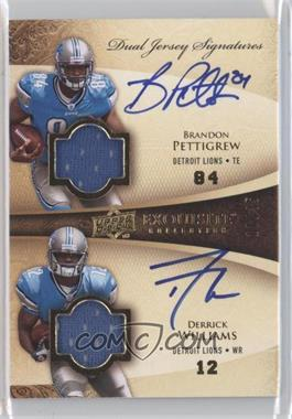 2009 Upper Deck Exquisite Collection - Dual Jersey Singatures #SDJ-WP - Brandon Pettigrew, Derrick Williams /35