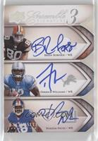 Hakeem Nicks, Derrick Williams, Brian Robiskie #/30