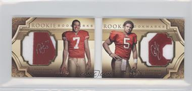 2009 Upper Deck Exquisite Collection - Rookie Bookmarks #BM-FD - Nate Davis, Josh Freeman /99