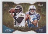 Vince Young, David Garrard /40