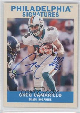 2009 Upper Deck Philadelphia - Signatures #PS-GC - Greg Camarillo