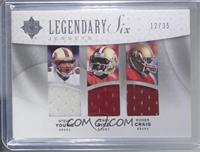 Steve Young, Jerry Rice, Roger Craig, Troy Aikman, Emmitt Smith, Bob Lilly #/35