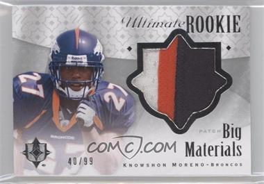 2009 Upper Deck Ultimate Collection - Ultimate Rookie Big Materials #B-5 - Knowshon Moreno /99