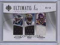 Reggie Bush, Adrian Peterson /50