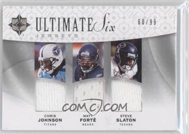 2009 Upper Deck Ultimate Collection - Ultimate Six - Jerseys #6J-8 - Matt Forte, Steve Slaton, Felix Jones /99