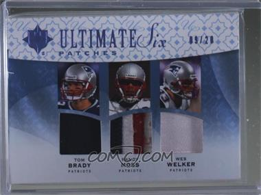 2009 Upper Deck Ultimate Collection - Ultimate Six - Patches #6J-13 - Tom Brady, Randy Moss, Wes Welker, Peyton Manning, Reggie Wayne, Dallas Clark /20 [Noted]