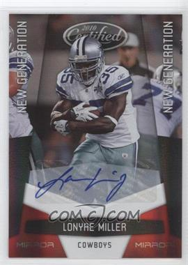 2010 Certified - [Base] - Mirror Red Signatures [Autographed] #238 - Lonyae Miller /250