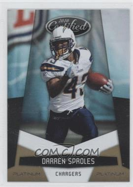 2010 Certified - [Base] - Platinum Gold #124 - Darren Sproles /10