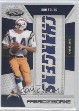 2010 Certified - Fabric of the Game - Die-Cut Team Name #34 - Dan Fouts /25
