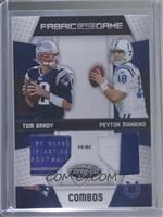 Peyton Manning, Tom Brady [EXtoNM] #/25