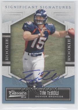 2010 Classics - [Base] - Significant Signatures Platinum [Autographed] #195 - Tim Tebow /25
