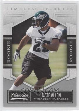 2010 Classics - [Base] - Timeless Tributes Silver #174 - Nate Allen /100