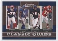Bruce Smith, Derrick Thomas, Michael Strahan, Mike Singletary