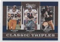 Rod Woodson, Deion Sanders, Mel Blount