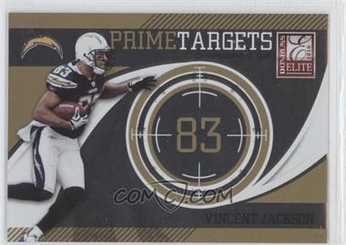 2010 Donruss Elite - Prime Targets - Gold #19 - Vincent Jackson /999