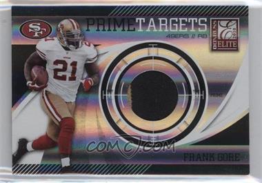 2010 Donruss Elite - Prime Targets - Jerseys Prime [Memorabilia] #8 - Frank Gore /50