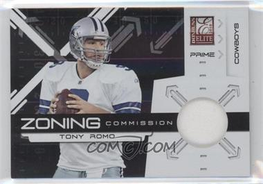 2010 Donruss Elite - Zoning Commission - Black Jersey [Memorabilia] #18 - Tony Romo /50