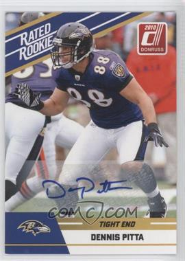 2010 Donruss Rated Rookie - Box Set [Base] - Autographs #28 - Dennis Pitta
