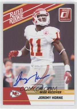 2010 Donruss Rated Rookie - Box Set [Base] - Autographs #48 - Jeremy Horne