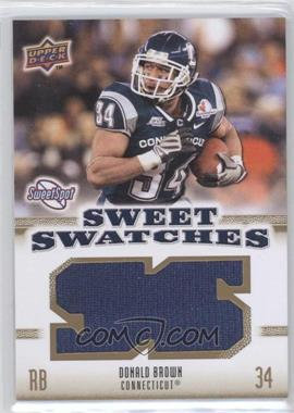 2010 NCAA Sweet Spot - Sweet Swatches #SSW-20 - Donald Brown